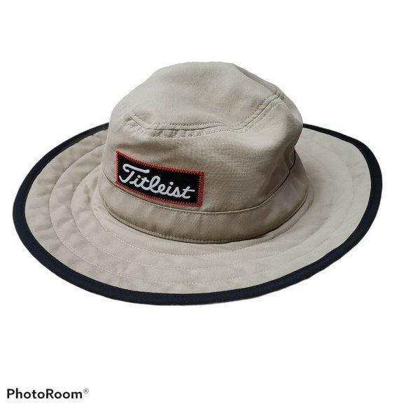 Titleist Size L/XL Tan Golf Boonie Bucket Sun Hat
